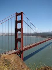 Golden Gate Bridge (kangotraveler) Tags: ocean sanfrancisco california bridge northerncalifornia bay view pacific goldengatebridge marincounty sanfranciscobay cityskyline goldengatenationalrecreationarea