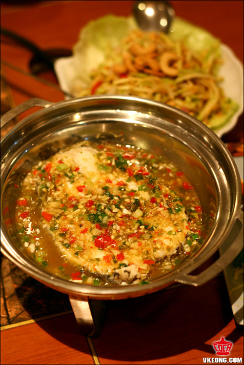 thai style steamed cod fish