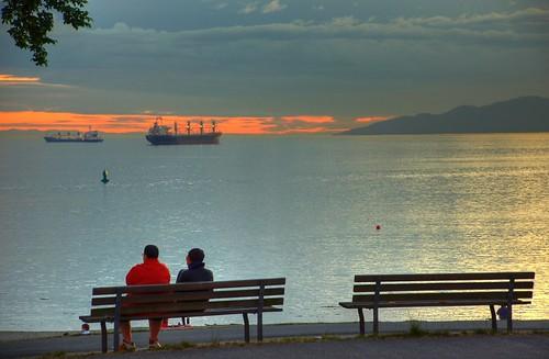 Georgia Strait solstice sunset - 9:25pm 21 June 2008