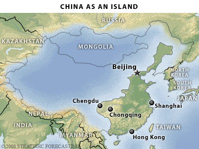 China as an island