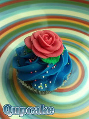 i like it Blue :) {{rose flow}} ({ Qupcake }) Tags: blue food brown cute cake stars yummy yum sweet like it eat cupcake qatar    qupcake