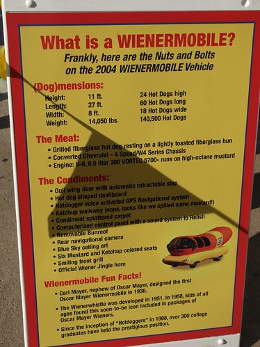 Weinermobile Factoids