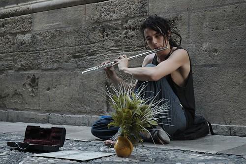 El flautista (de la flauta travesera)