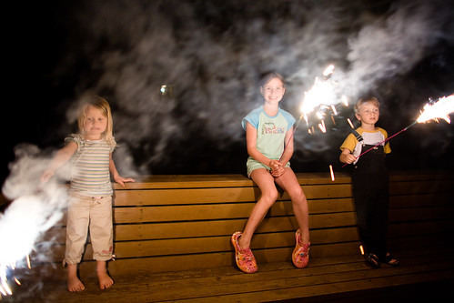 sparklers were my fav when I was a kid!