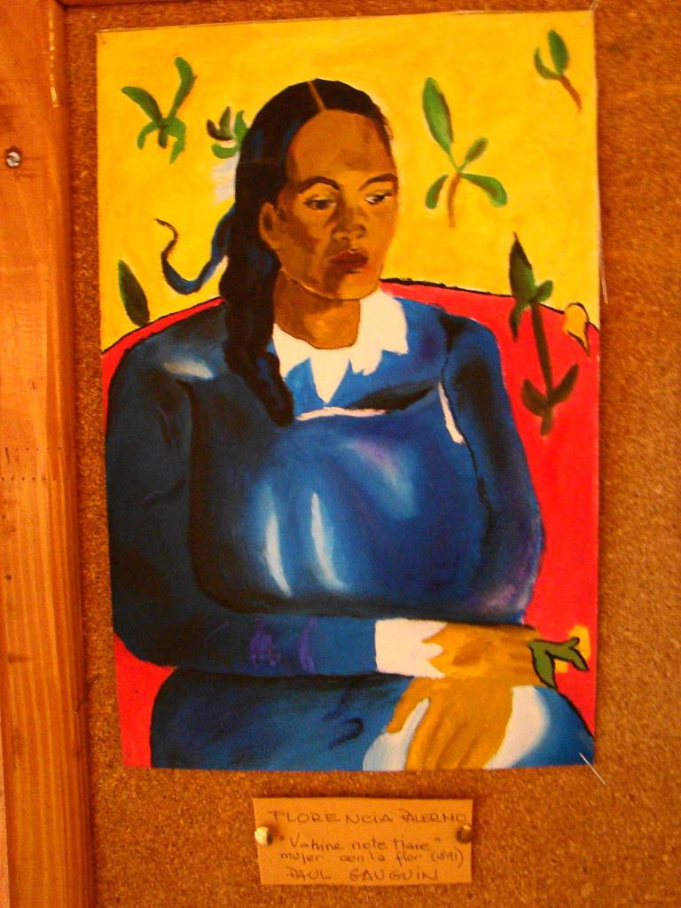 Mujer con la flor - Paul Gauguin