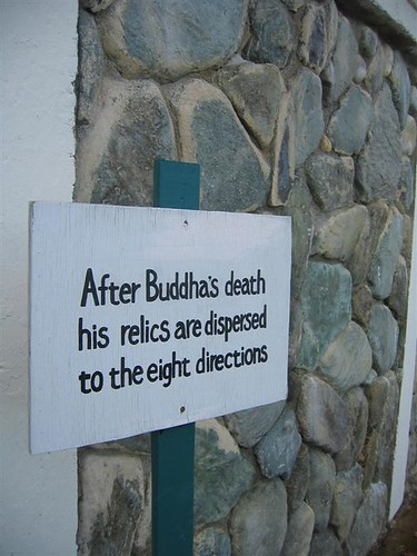 Buddhist teachings on a sign