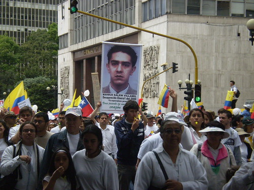 Marcha 20 de julio - Pancarta Mahmud Salem Villamil