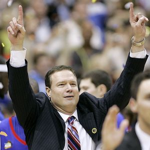 Bill Self winning national championship