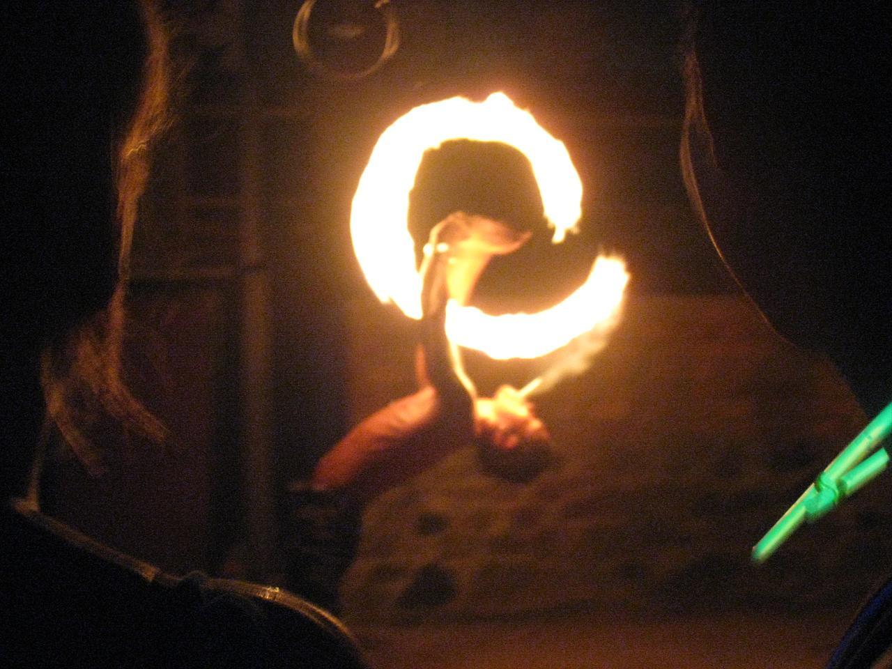Lighting a cigarette, the hard way - Half Moon Party, Koh Phangan