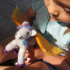 Pegasus (BeneathTheRowanTree) Tags: horse wool felted toy toys flying toddler soft natural felting handmade pegasus magic waldorf felt merino plush needle winged myth roving chil needlefelted legened