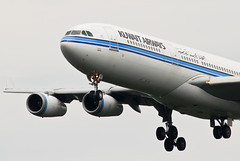 Kuwait Airways Airbus A340-313 9K-ANB Bayan (21215) (Thomas Becker) Tags: plane germany airplane geotagged deutschland airport nikon hessen frankfurt aircraft airbus kuwait d200 tamron flugzeug spotting fra a340 200500 bayan fraport kwi rheinmain a340300 kuwaitairways noseshot eddf aerotagged luftfahrzeug a340313 9kanb aero:airport=eddf 080801 fwwjz aviationphoto ku171 kuwaitairwayscom msn90 230395 070495 geo:lat=50039323 geo:lon=8596877