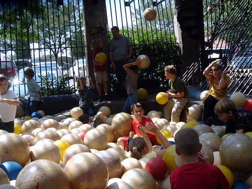 ball pit at the city museum