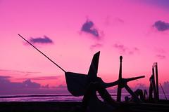 Contraption at dawn (Johan_Leiden) Tags: pink bali indonesia dawn contraption sanur jukung bej mywinners abigfave aplusphoto colourartaward goldstaraward