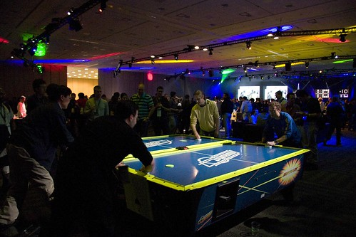 Google IO air hockey