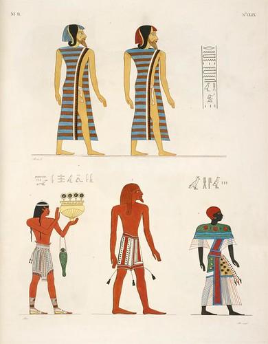06- Varias figuras de hombres extranjeros representados en los monumentos de Egipto