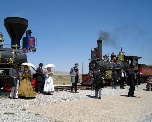 The Golden Spike Ceremony by Edna Barney