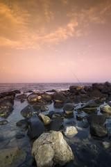 Tobacco Fishing (Khaled A.K) Tags: sea photography rocks clarity filter sa jeddah saudiarabia khaled ksa saudia gradtobacco kashkari southcorniche