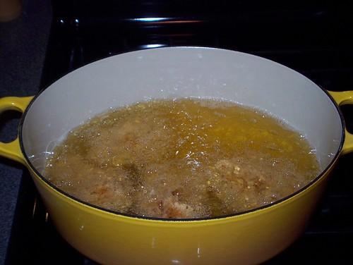 frying chicken