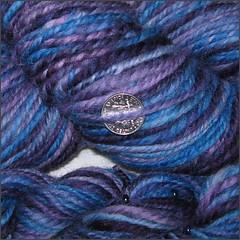 Deep Night yarn, close up