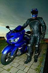 The man and the machine (Virtual Frippe) Tags: canon eos sweden motorbike sverige fredrik 1ds malmö kawasaki motorcykel billgren