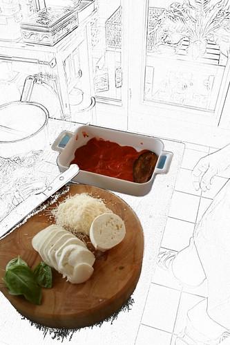 Parmigiana de berenjenas