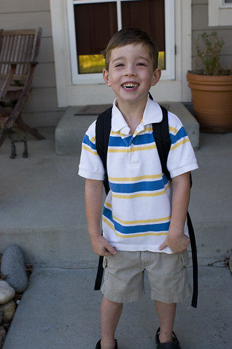 Bear 1st day of Preschool