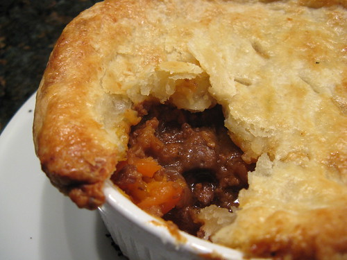 Beef, Beer & Blue Cheese Pot Pie