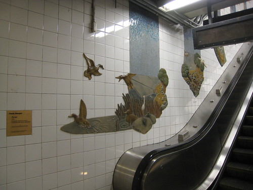 escalator at Whitehall subway station