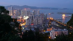 Zhuhai - Xiangzhou at dusk (cnmark) Tags: china blue mountain night landscape geotagged noche long exposure nacht dusk explore guangdong hour noite  shan nuit notte zhuhai nachtaufnahme shijing    blueribbonwinner  explored allrightsreserved shijingshan xiangzhou  geo:lat=22268714 geo:lon=113573061 rememberthatmomentlevel4 rememberthatmomentlevel1 rememberthatmomentlevel2 rememberthatmomentlevel3 rememberthatmomentlevel7 rememberthatmomentlevel5 rememberthatmomentlevel6