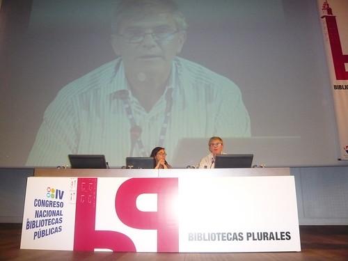 Natalia Arroyo en el IV Congreso de bibliotecas publicas