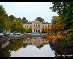 Art and Nature togethers:Museum in Vsters (Grace Olsson Fotograf(Im abroad)) Tags: autumn trees sky reflection art nature water mirror museu sweden soe vsters digitalcameraclub platinumphoto aplusphoto colourartaward