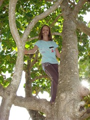 Stephie in a tree (thrashor) Tags: tree fiji 2008 sandypoint