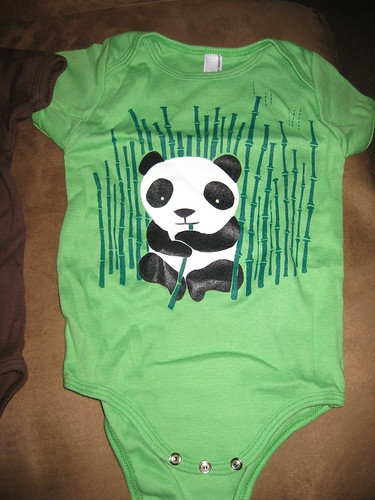 green panda onesie
