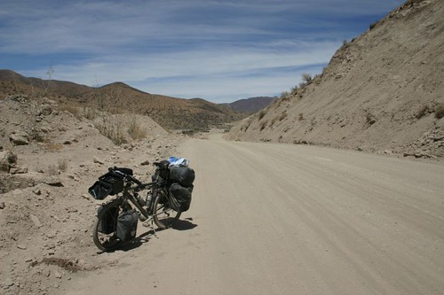 The end of the rough road is near! Between Vitichi and Potosi, Bolivia.