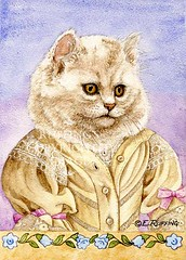 """Elenora Kitten"" Watercolor Cat by Elizabeth Ruffing"