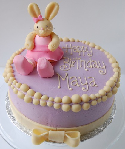 Bunny Ballerina cake for Maya