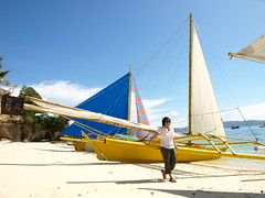 Paraw, that's what it's called in the Philippines. (boracayeveryday) Tags: baby sexy weather kids clouds swimming swim kid coconut shoreline bluesky shore beachbabe swimsuit coconuts crystalclear beachbaby