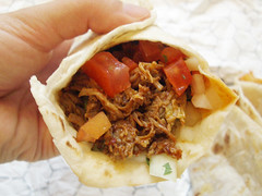 chilorio (pulled pork) taco @ pampano taqueria