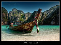 Maya Bay, Phi Phi Island (d.r.i.p.) Tags: travel beach thailand island nikon asia phi maya drip explore thai longtail hdr phiphiisland hdri 18mm mayabay photomatix d80 hdrpanorama