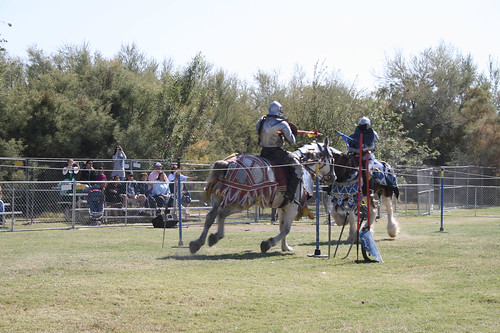Jousting with HUGE horses!