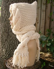 Earthly Fae Hood in Cream