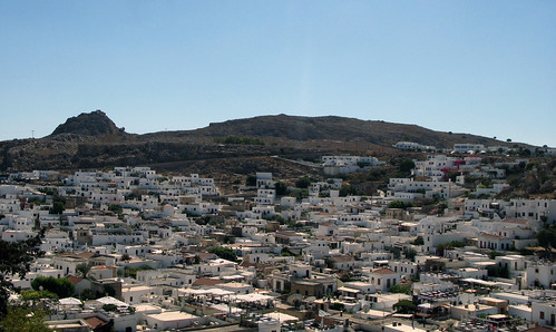 Lindos from above