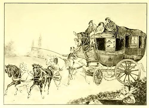010-Diligencia Rouen el Havre reinado de Luis XVIII siglo XIX