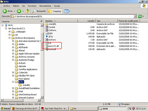 Copiar el archivo MSVCR71.dll a la carpeta de instalacion del programa  de computo para elaborar y presentar el Listado de conceptos que sirvio de base para calcular el impuesto empresarial a tasa unica a determinar