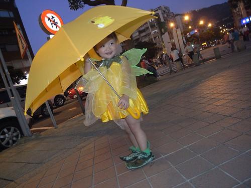 你拍攝的 22雨傘modle。