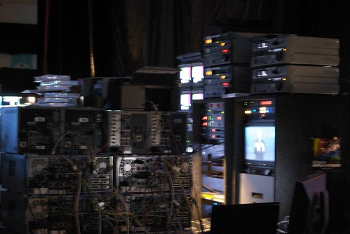 Tech beyond tech all here behind the stage! by Nick Lansley.