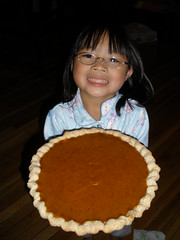 Olivia with Pumpkin Pie