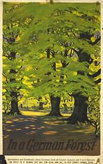 In a German forest (1935) (Susanlenox) Tags: travel mountain sport illustration germany poster bayern bavaria alemania plakat cartel rtol