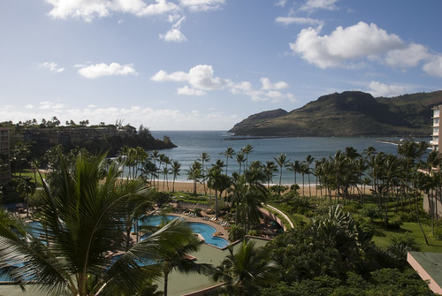 View from Lanai at Kauai Marriott