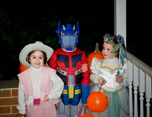 Cowgirl, Optimus Prime and Ariel